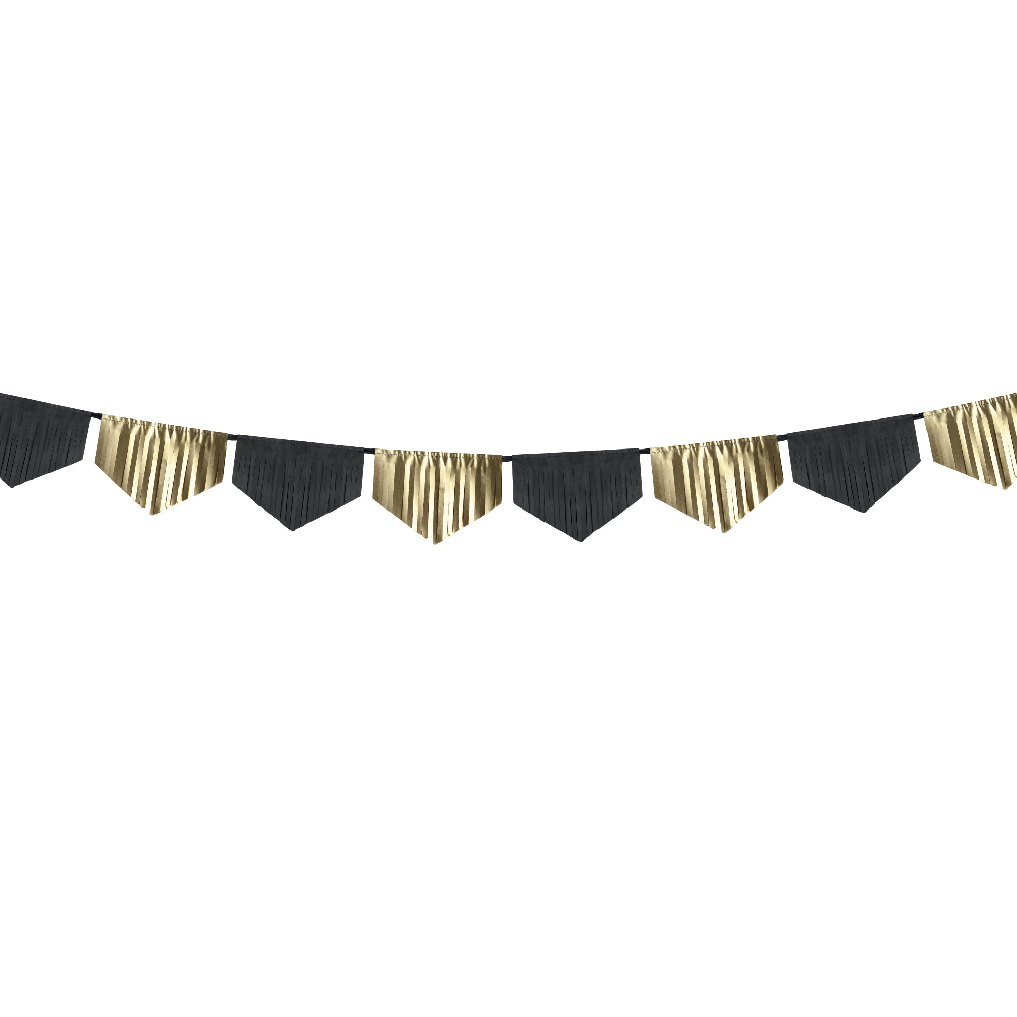 Black & Gold Fringe Garland