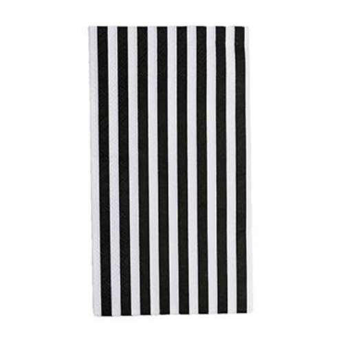Black and White Striped Guest Napkins | The Party Darling