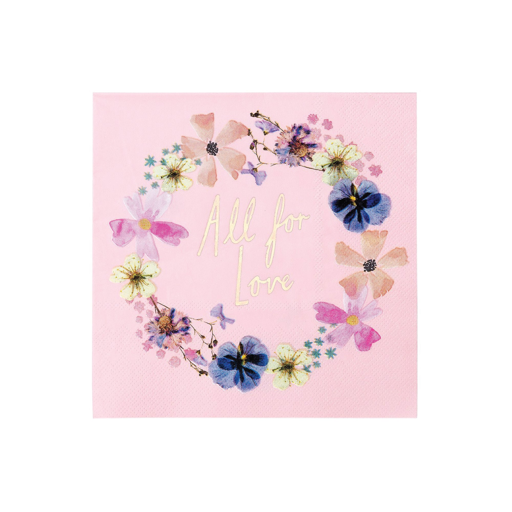 "Blossom Bridal ""All for Love"" Lunch Napkins 
