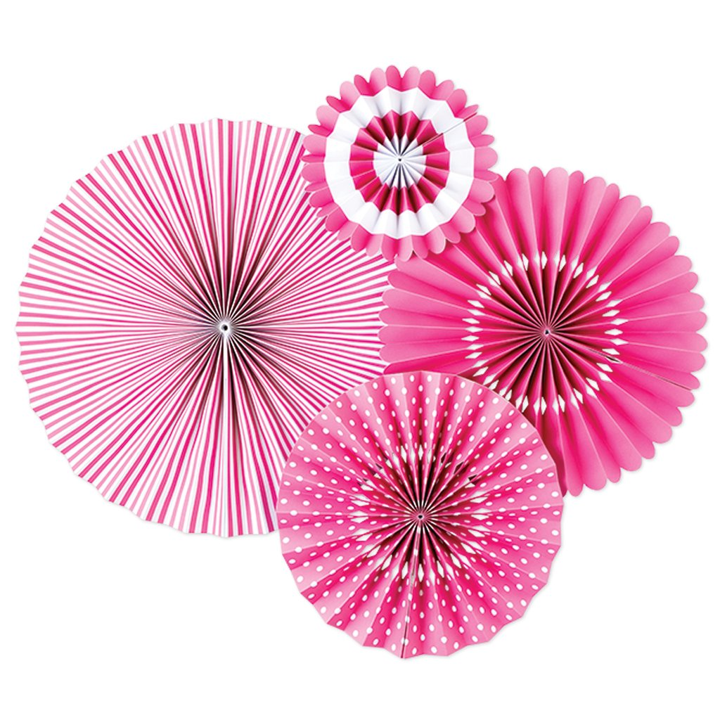 Bright Pink Paper Fan Decorations | The Party Darling