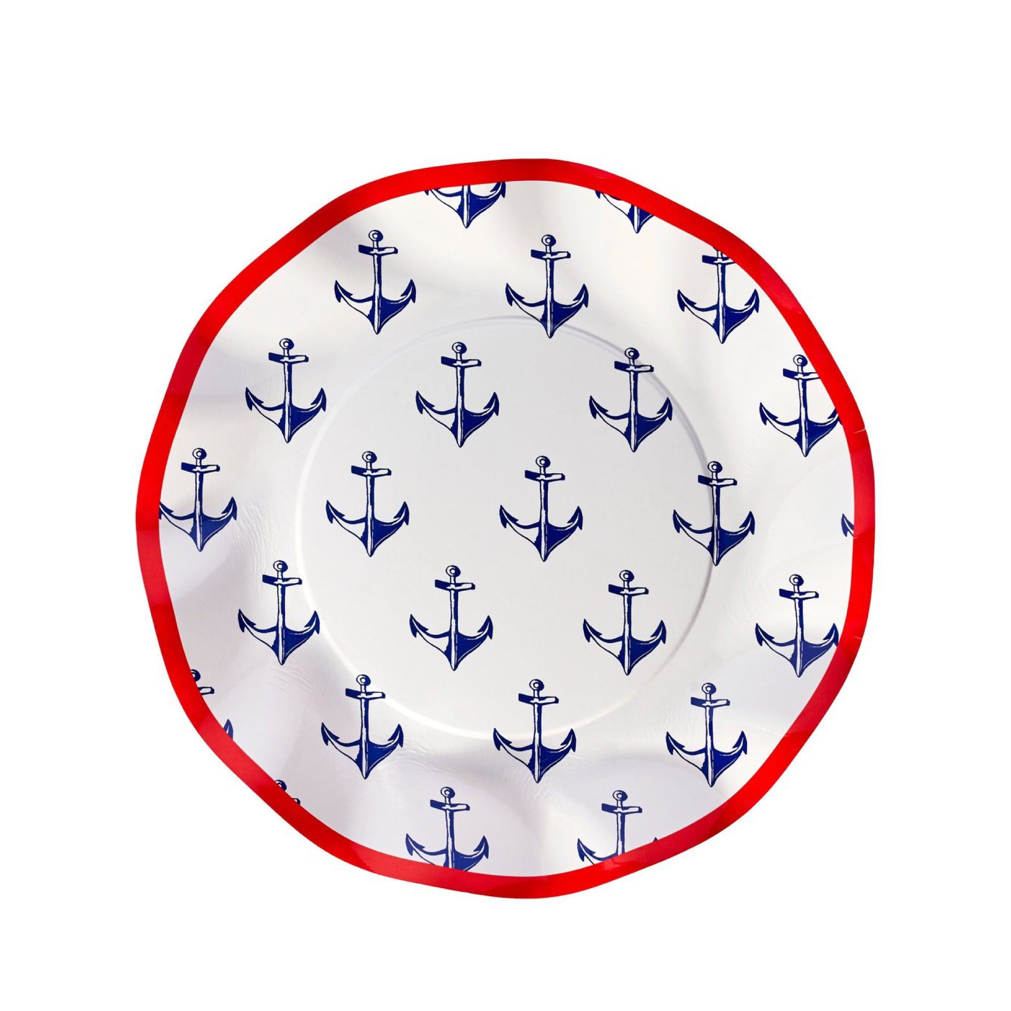 By the Sea Anchor Lunch Plates 8ct | The Party Darling