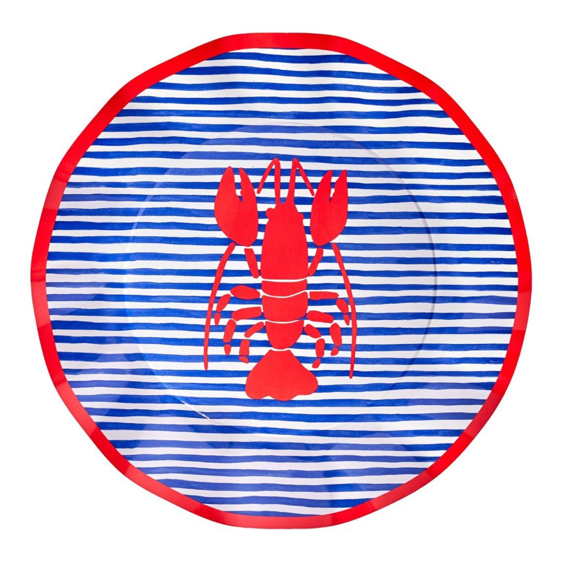 By the Sea Lobster Dinner Plates 8ct | The Part Darling