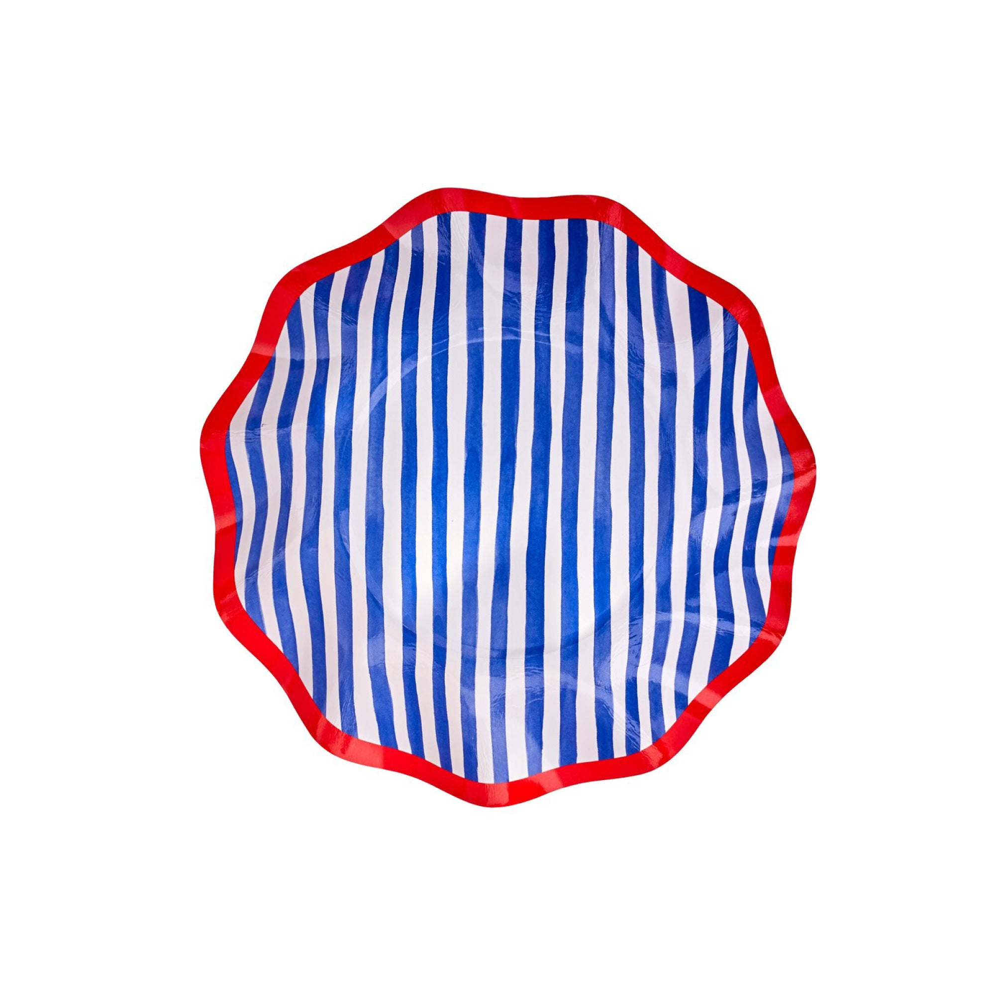By the Sea Striped Dessert Plates 8ct | The Party Darling