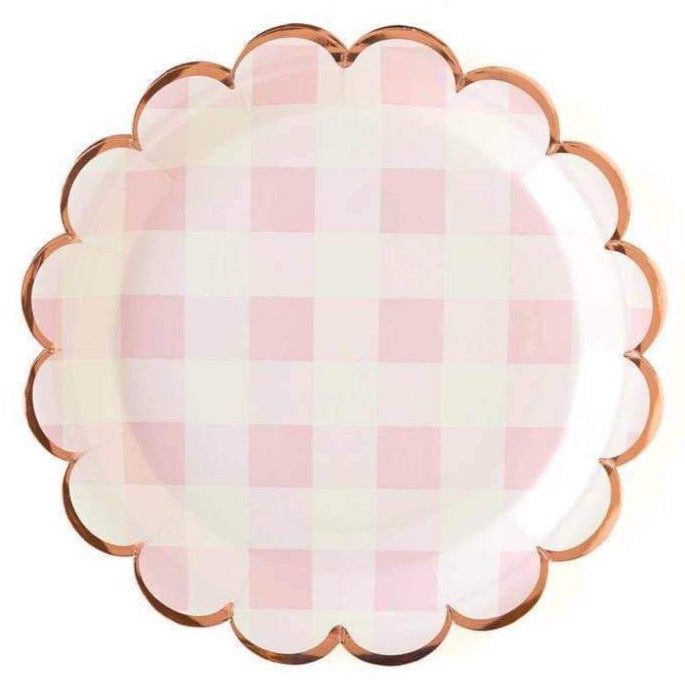 Pink Buffalo Scalloped Lunch Plates
