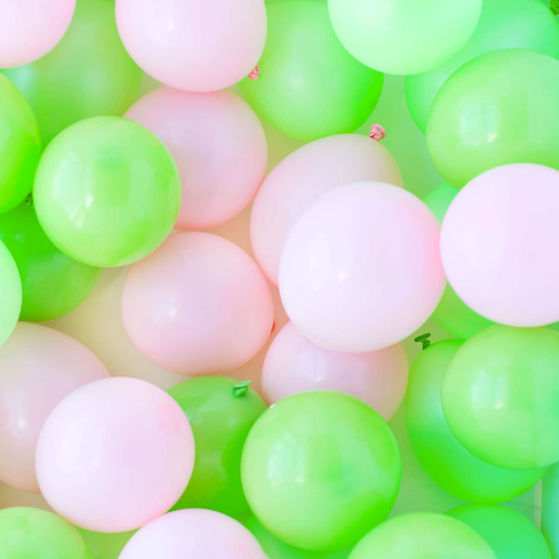 Cactus Green and Pink Mini Balloons