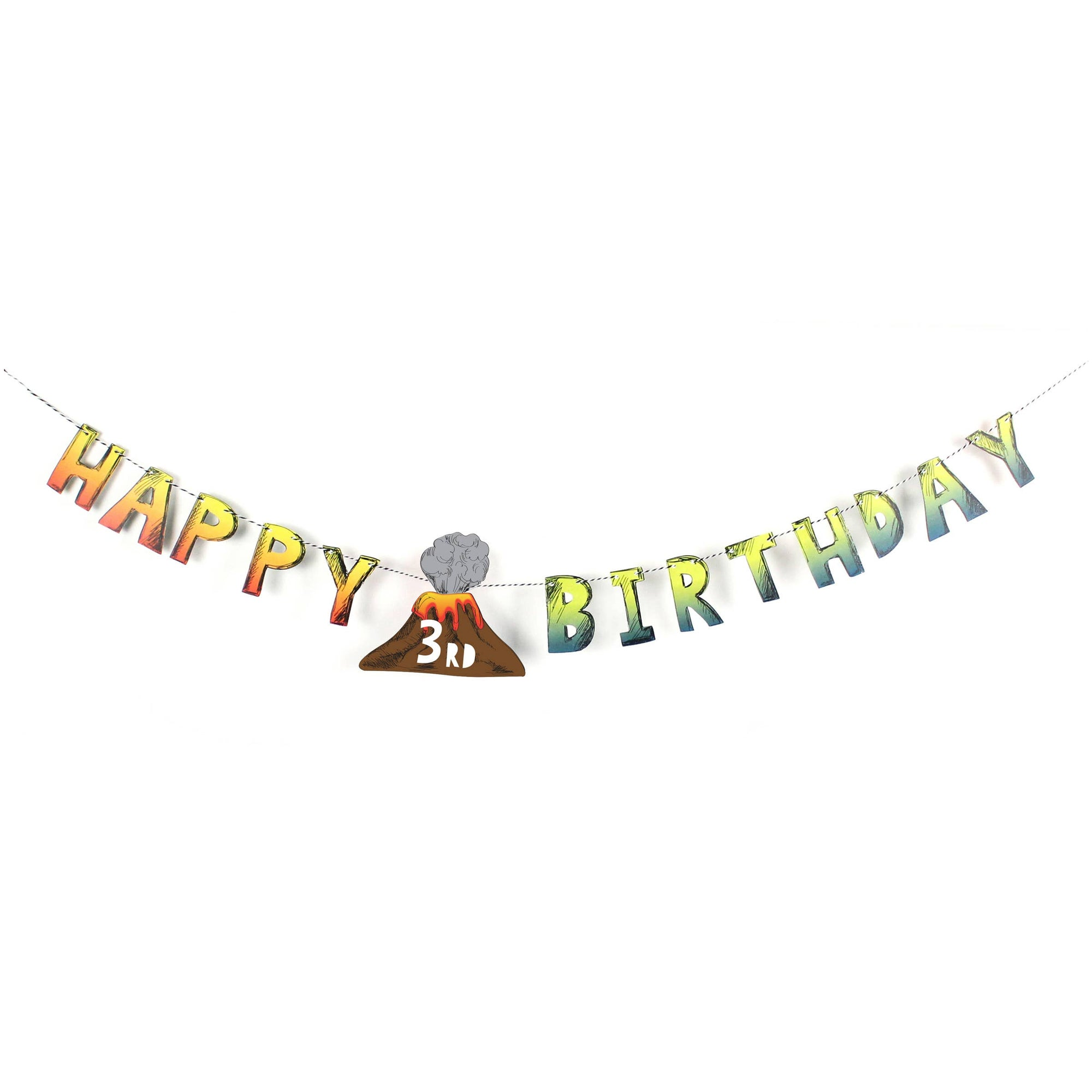 Dinosaur Birthday Age Banner 5ft | The Party Darling