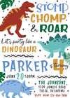 Dinosaur Kingdom Birthday Party Invitation