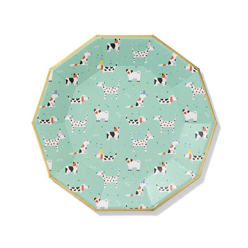Dog Pawty Lunch Plates 10ct | The Party Darling