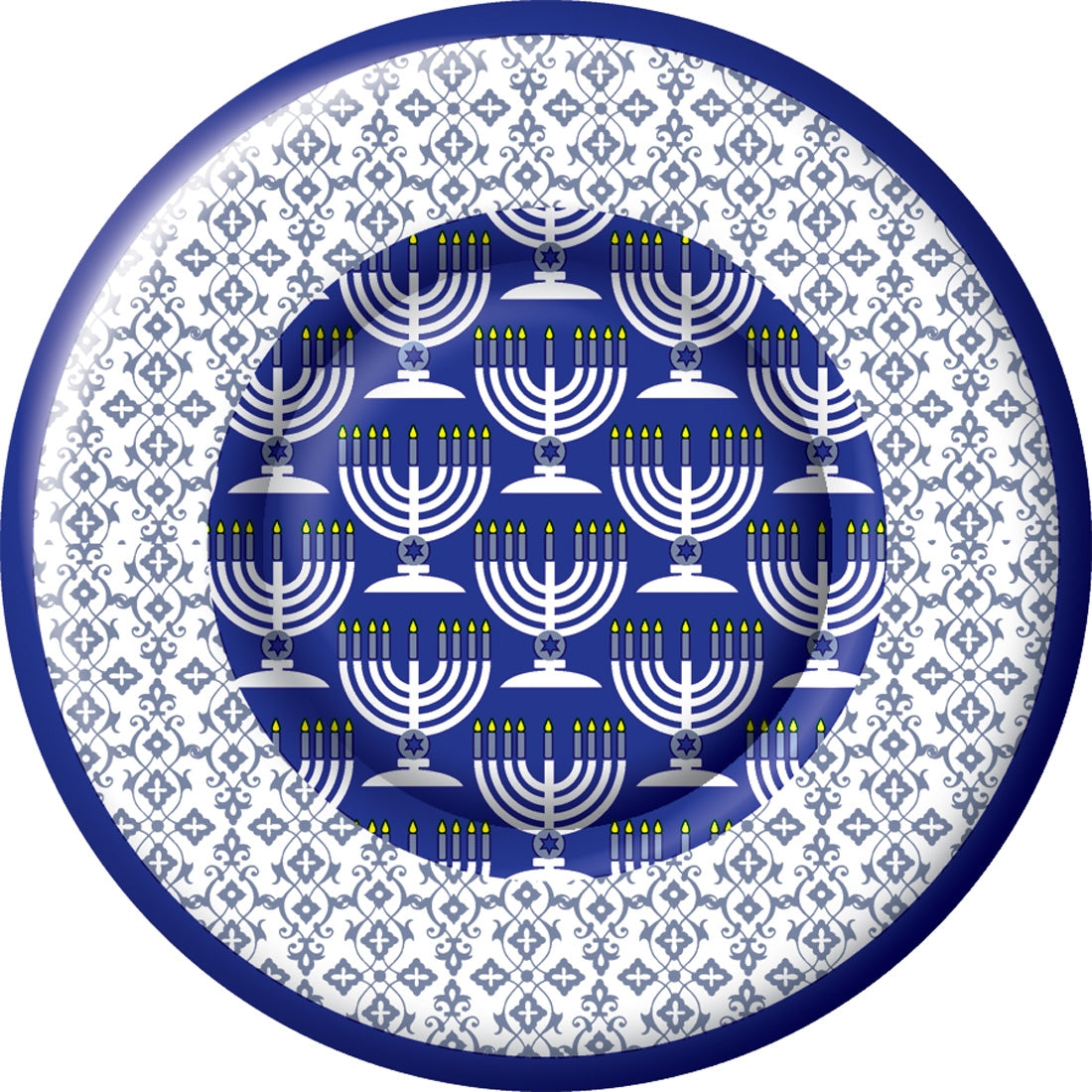 Festival of Lights Hanukkah Lunch Plates | The Party Darling