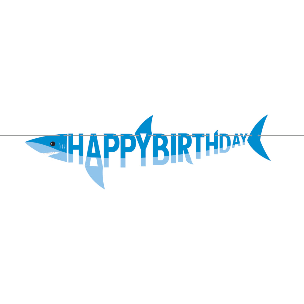 Fierce Happy Birthday Shark Banner 5.6ft | The Party Darling