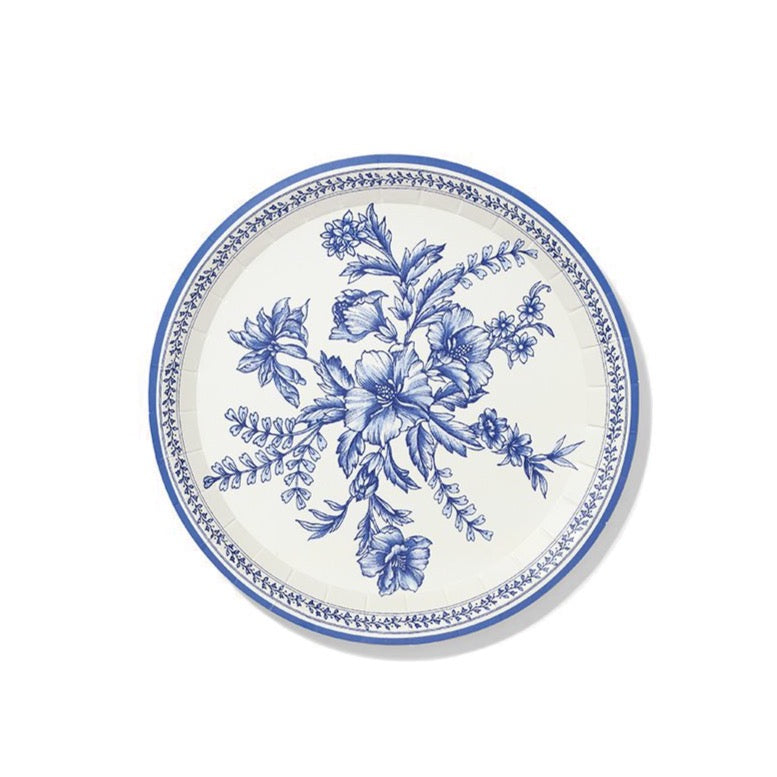 French Toile Paper Dessert Plates 10ct | The Party Darling
