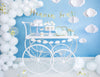White Happy Clouds Garland