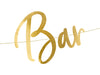 up close Gold Bubbly Bar Banner