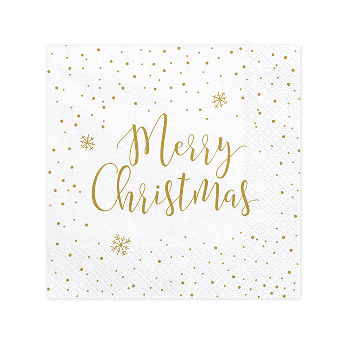 Gold Snowflake Merry Christmas Lunch Napkins | The Party Darling
