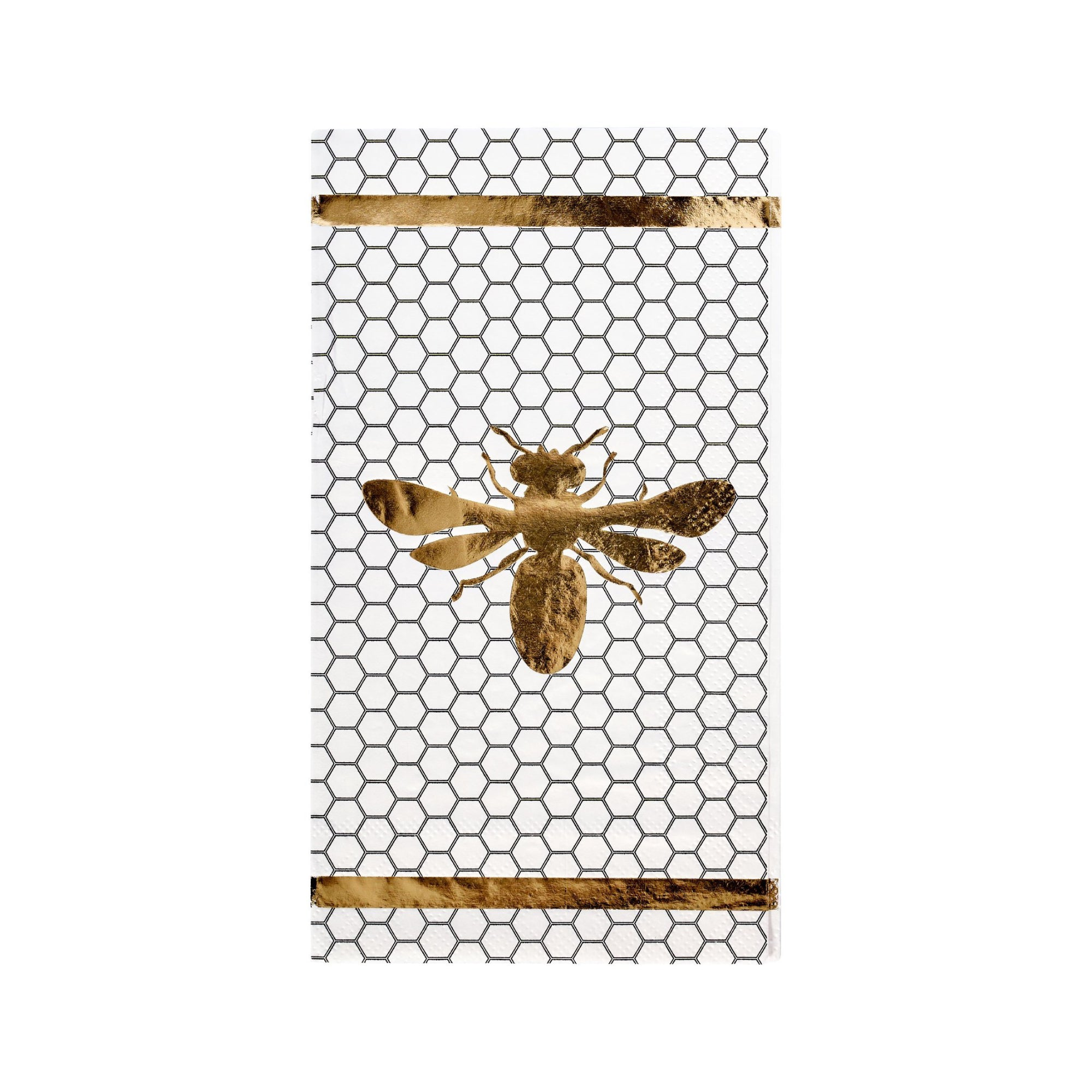 Gold Honeybee Guest Towels 20ct | The Party Darling