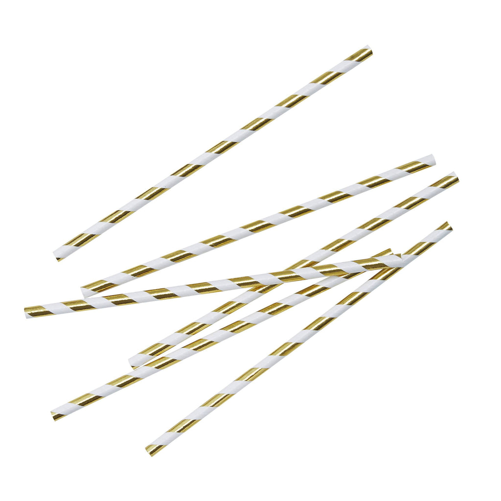 Gold Metallic Paper Straws | Party Supplies | The Party Darling Tulsa, OK