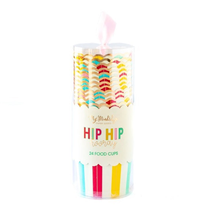 Hip Hip Hooray Rainbow Food Cups | The Party Darling