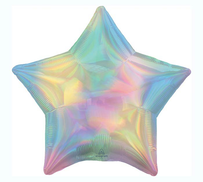 Iridescent Pastel Star Balloon