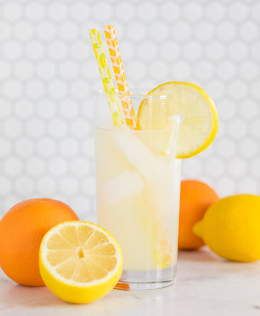 Lemon and Orange Reusable Straws | The Party Darling