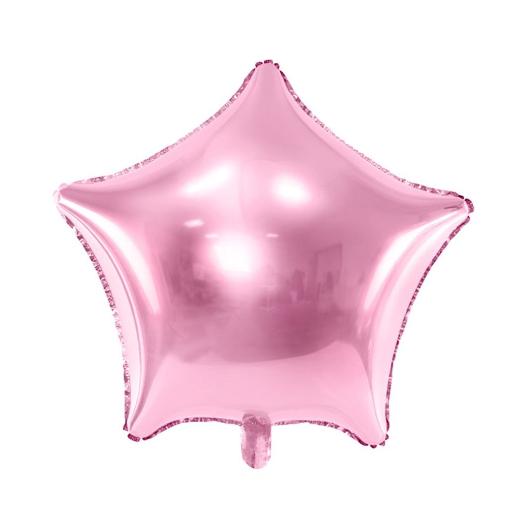 Light Pink Star Foil Balloon 19"