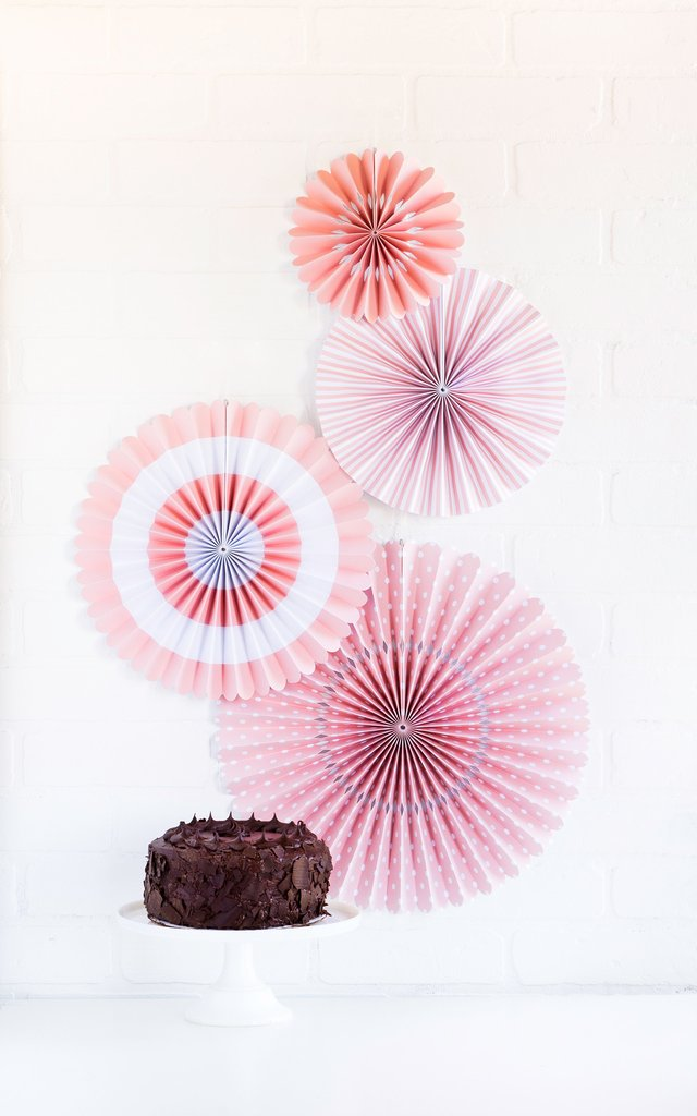Light Pink Paper Fan Decorations My Mind's Eye | The Party Darling
