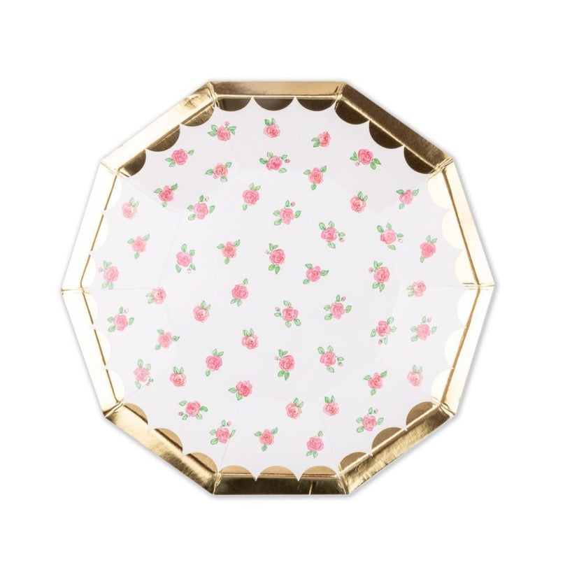 Lola Dutch Tea Rose Dessert Plates | The Party Darling