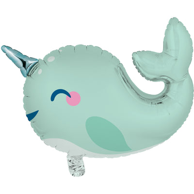 Mint Green Narwhal Balloon