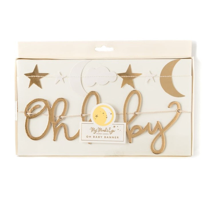 Gold Oh Baby Banner Set