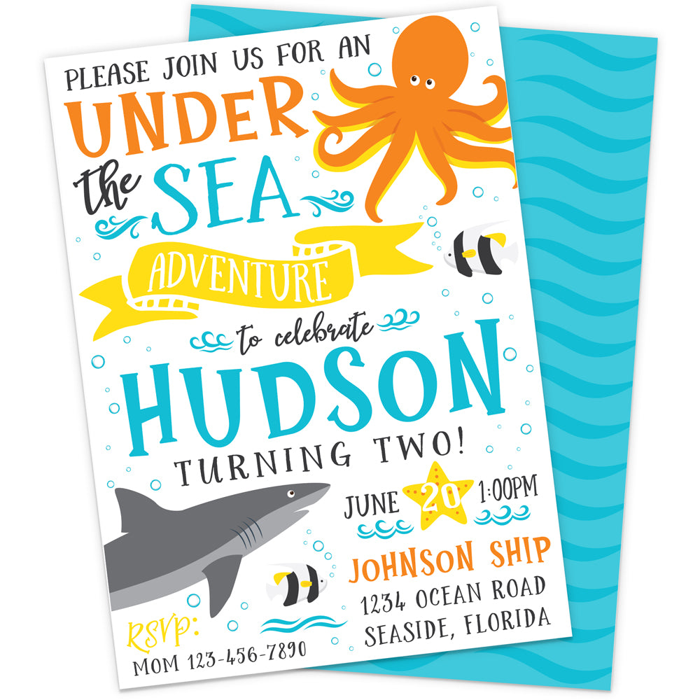 Personalized Under the Sea Birthday Party Invitation | The Party Darling