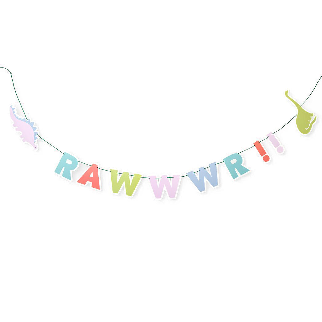 Pastel Roar Dinosaur Party Banner | The Party Darling