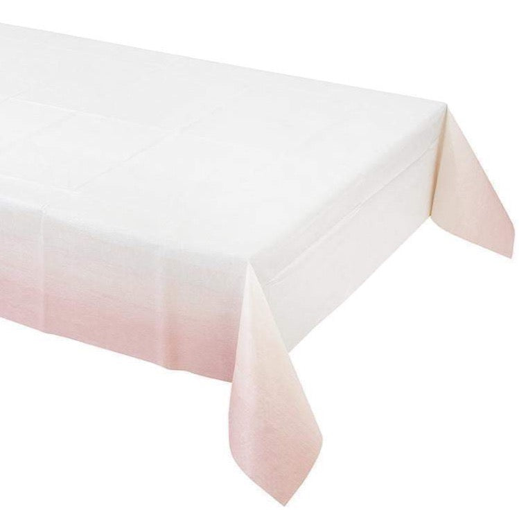Pastel Pink Paper Table Cover