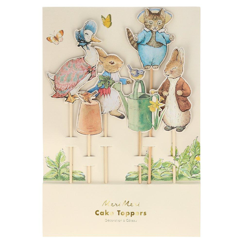 Peter Rabbit & Friends Cake Toppers 6ct | The Party Darling