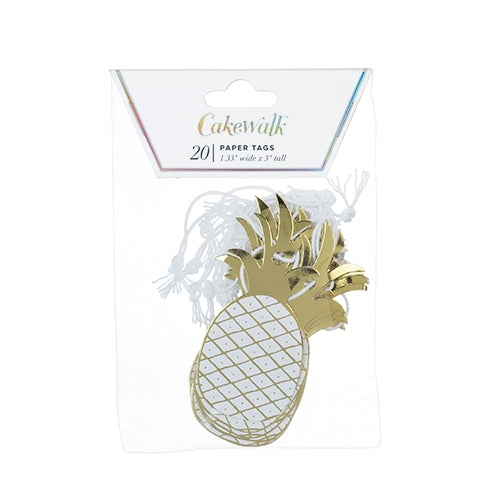 Gold Pineapple Paper Tags