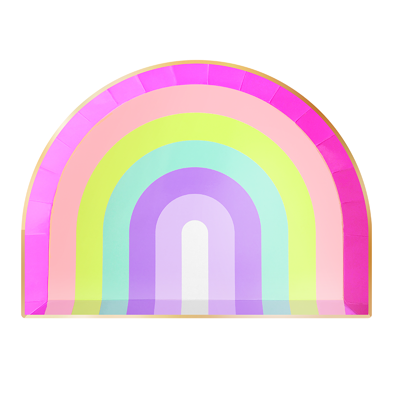 Rainbow Lunch Plates 10"