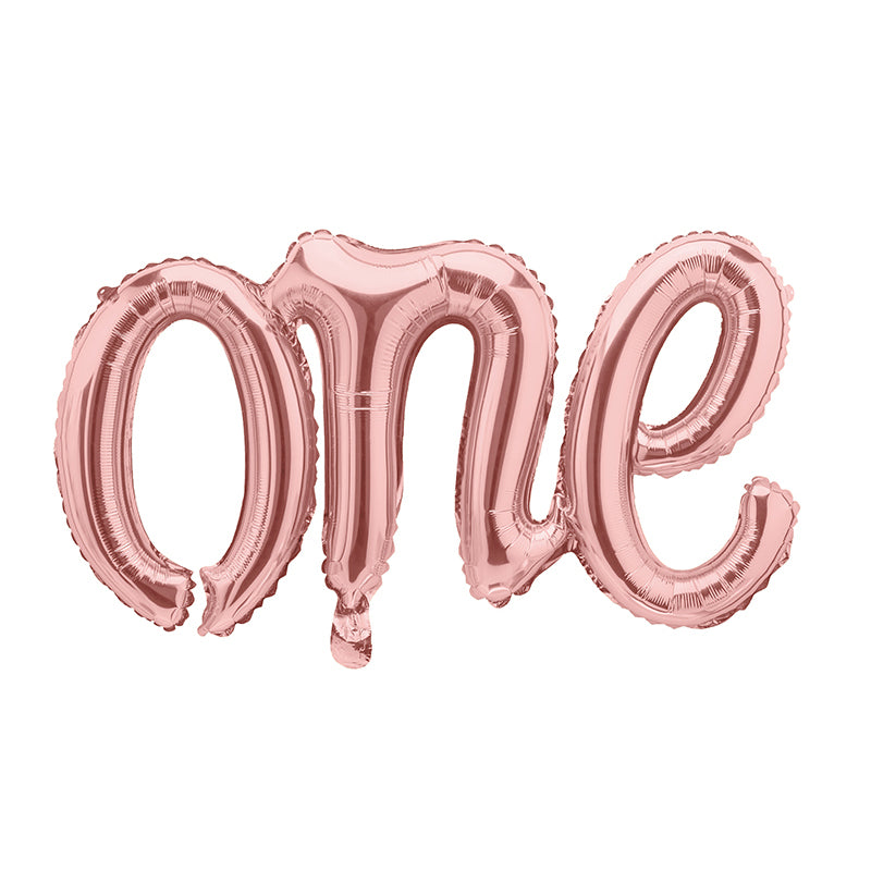 Rose Gold One Script Foil Balloon | The Party Darling