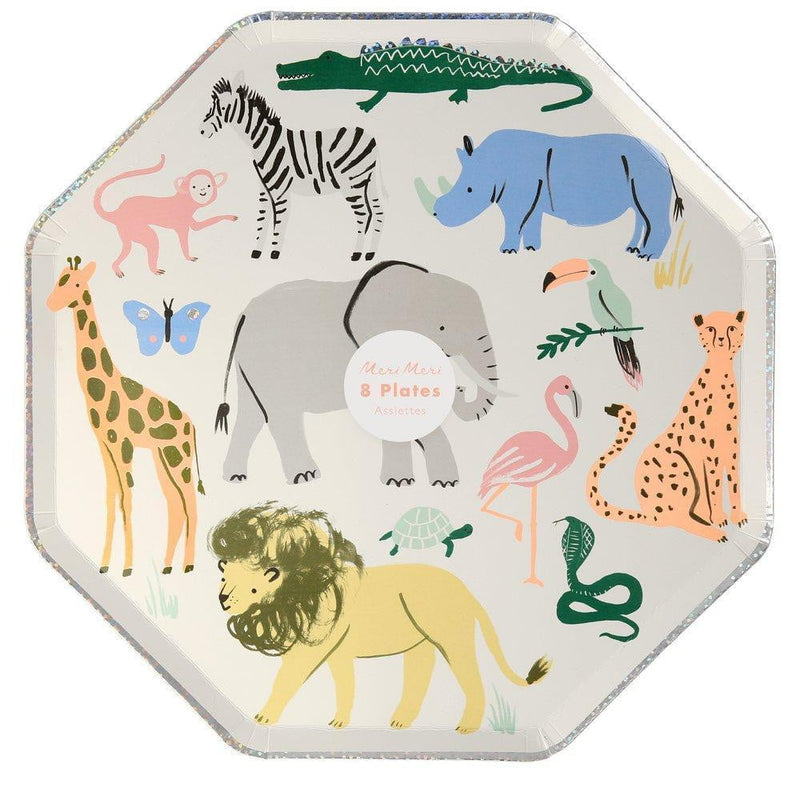 Safari Animals Lunch Plates Meri Meri