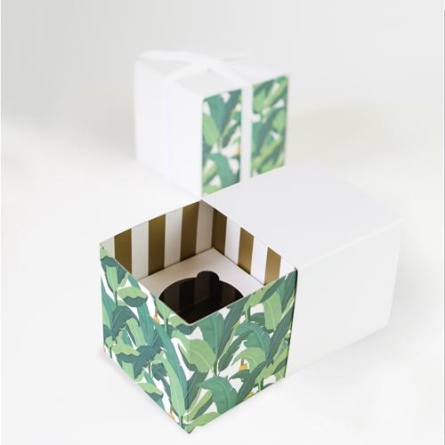 Tropical Leaf Cupcake Boxes