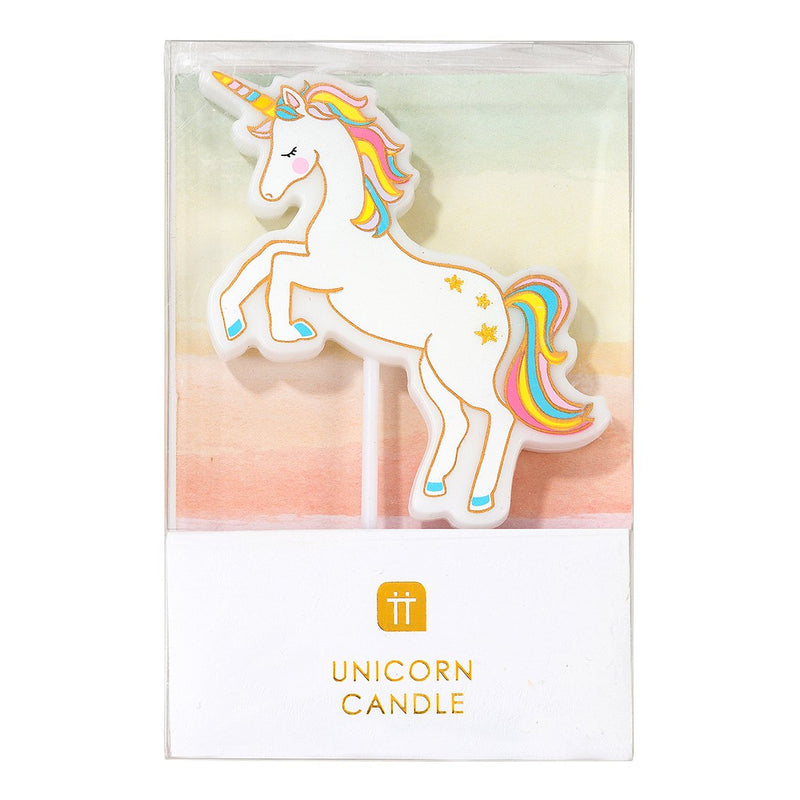 Rainbow Unicorn Birthday Candle Talking Tables | The Party Darling