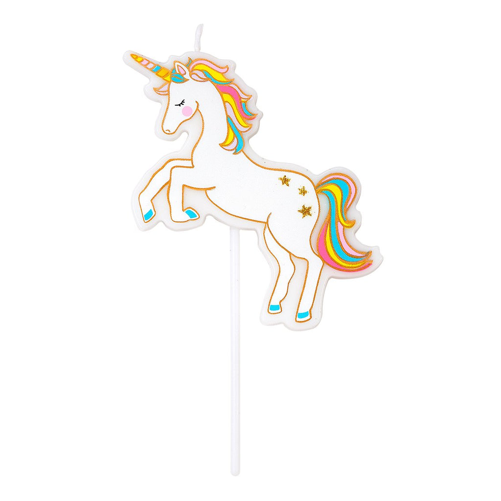 Rainbow Unicorn Birthday Candle | The Party Darling