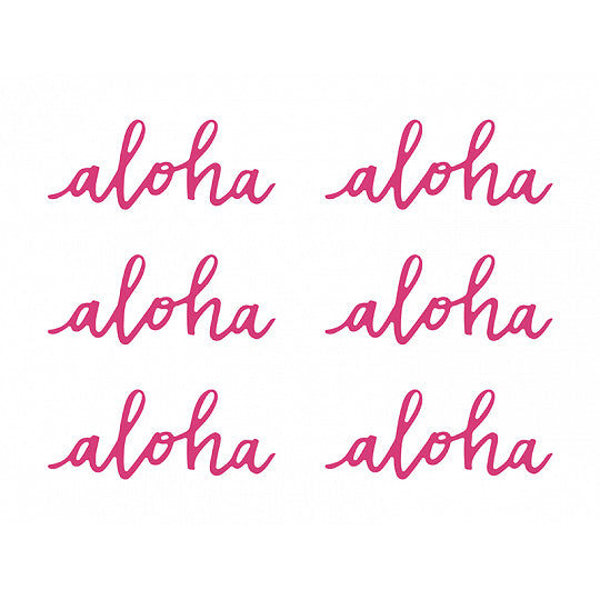 Pink Aloha Paper Cutouts 6ct | The Party Darling