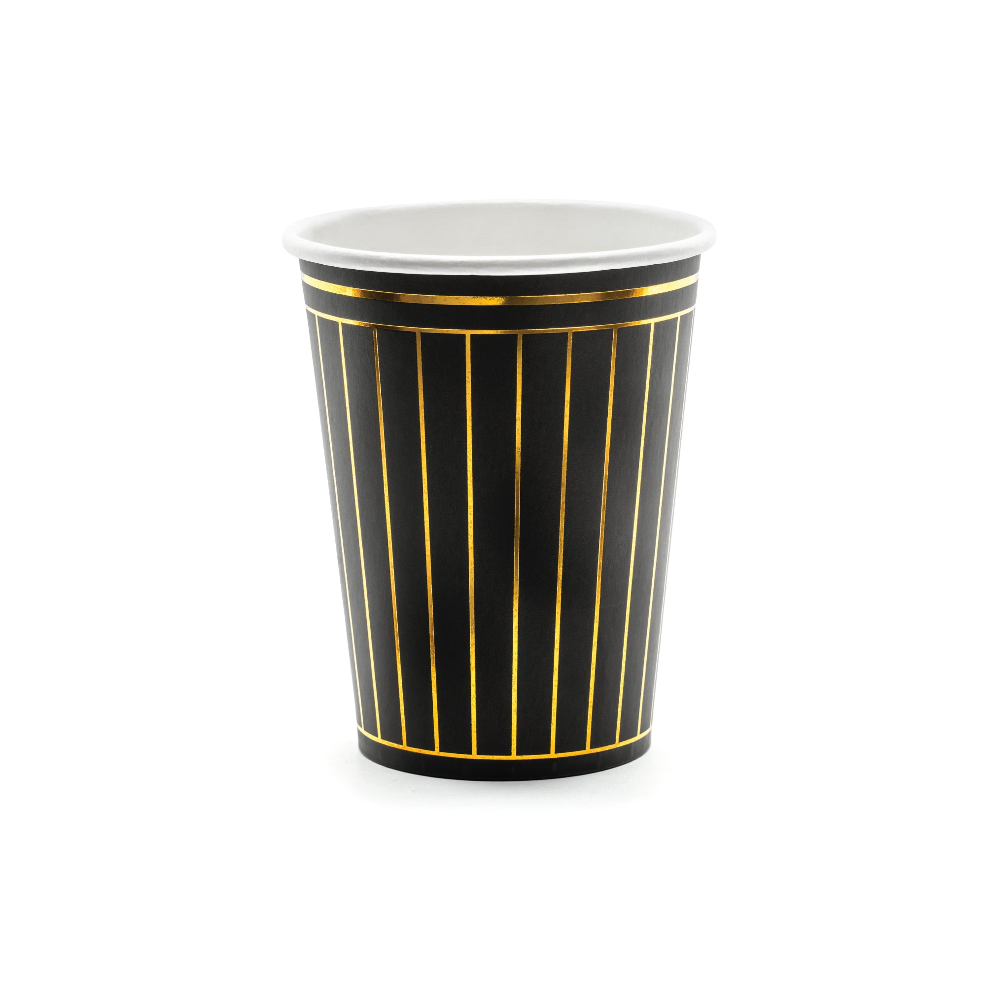 Black & Gold Elegant Paper Cups