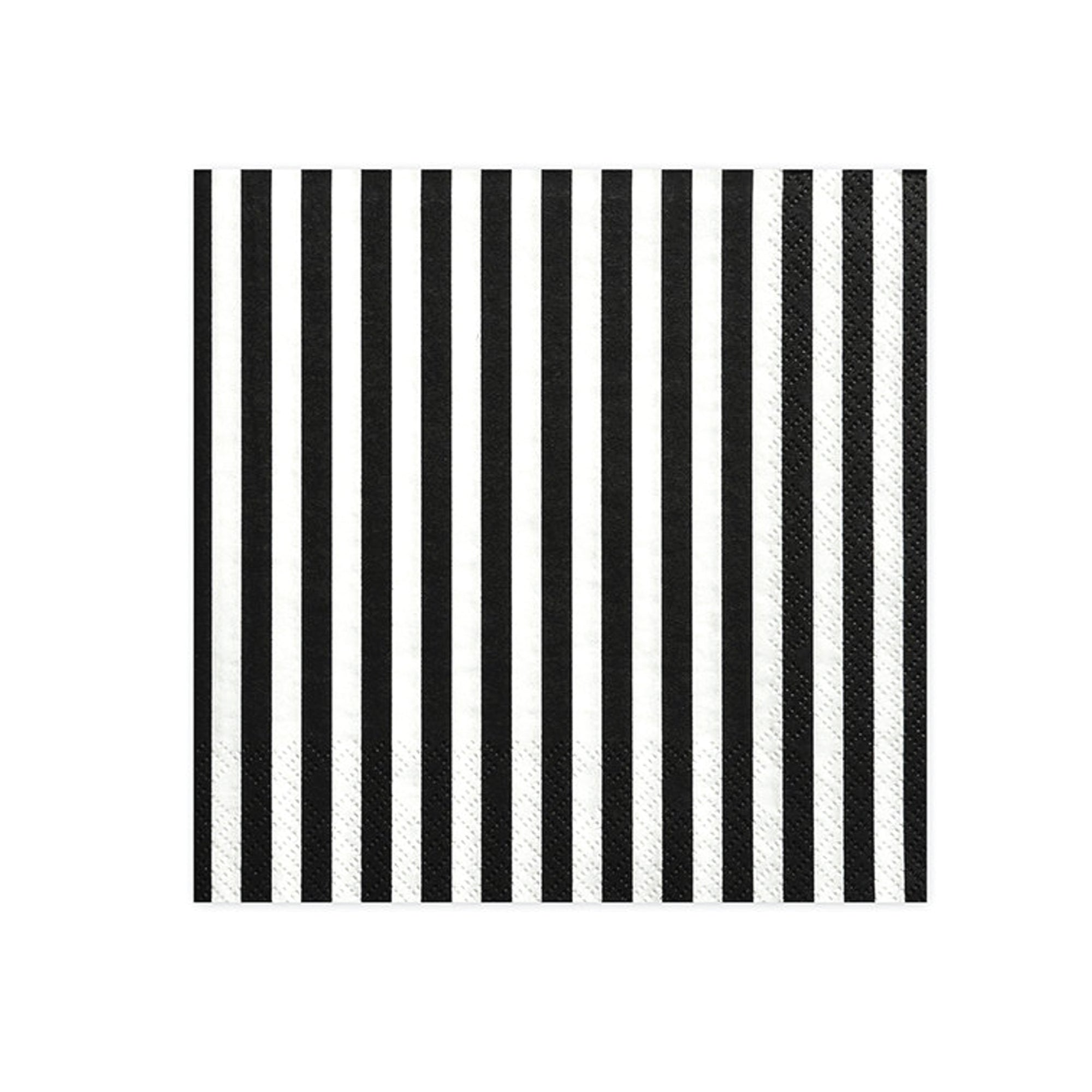 Black & White Striped Lunch Napkins