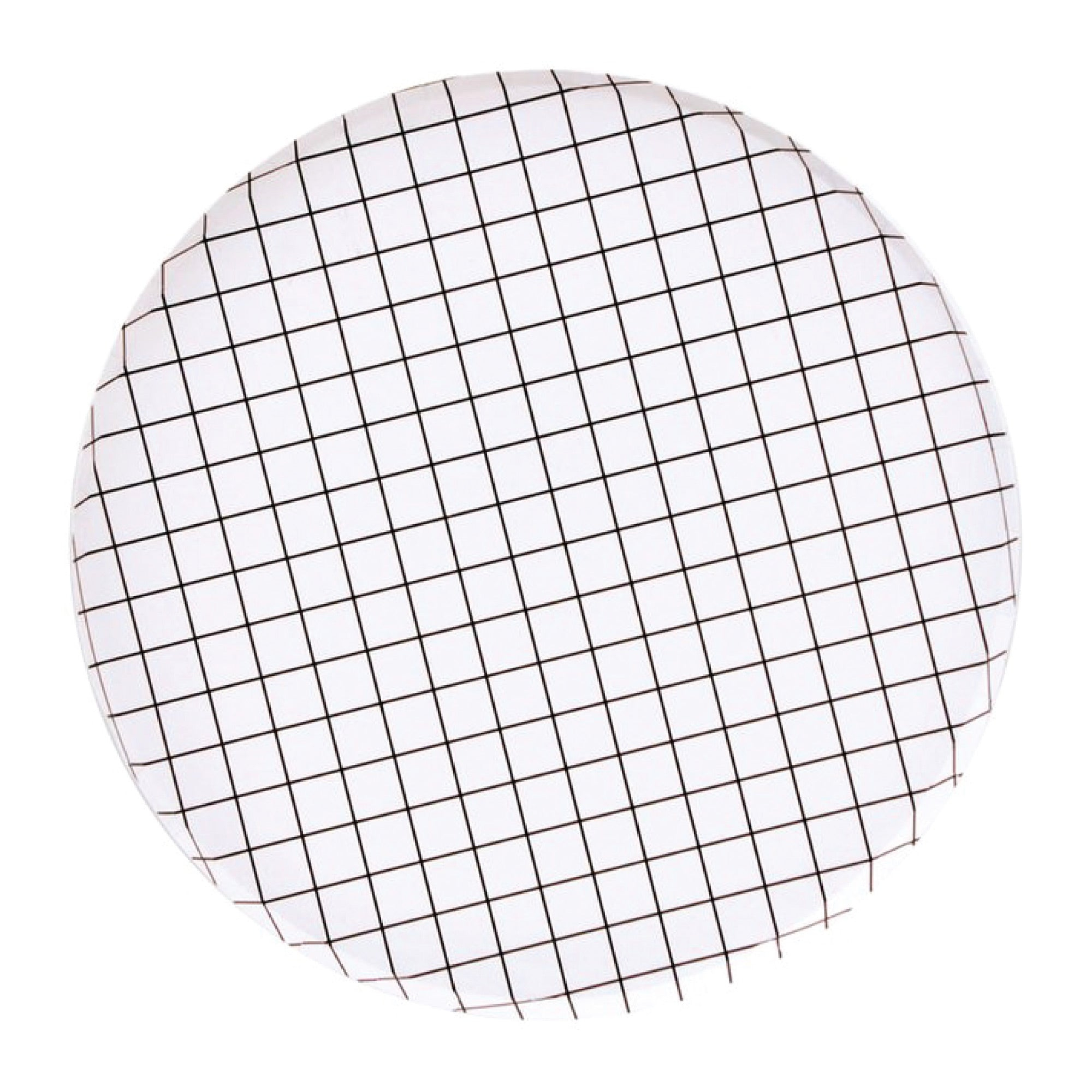 Black & White Grid Lunch Plates 8ct | The Party Darling
