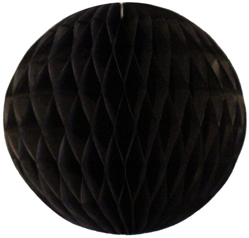 Black Honeycomb Tissue Ball - The Party Darling
