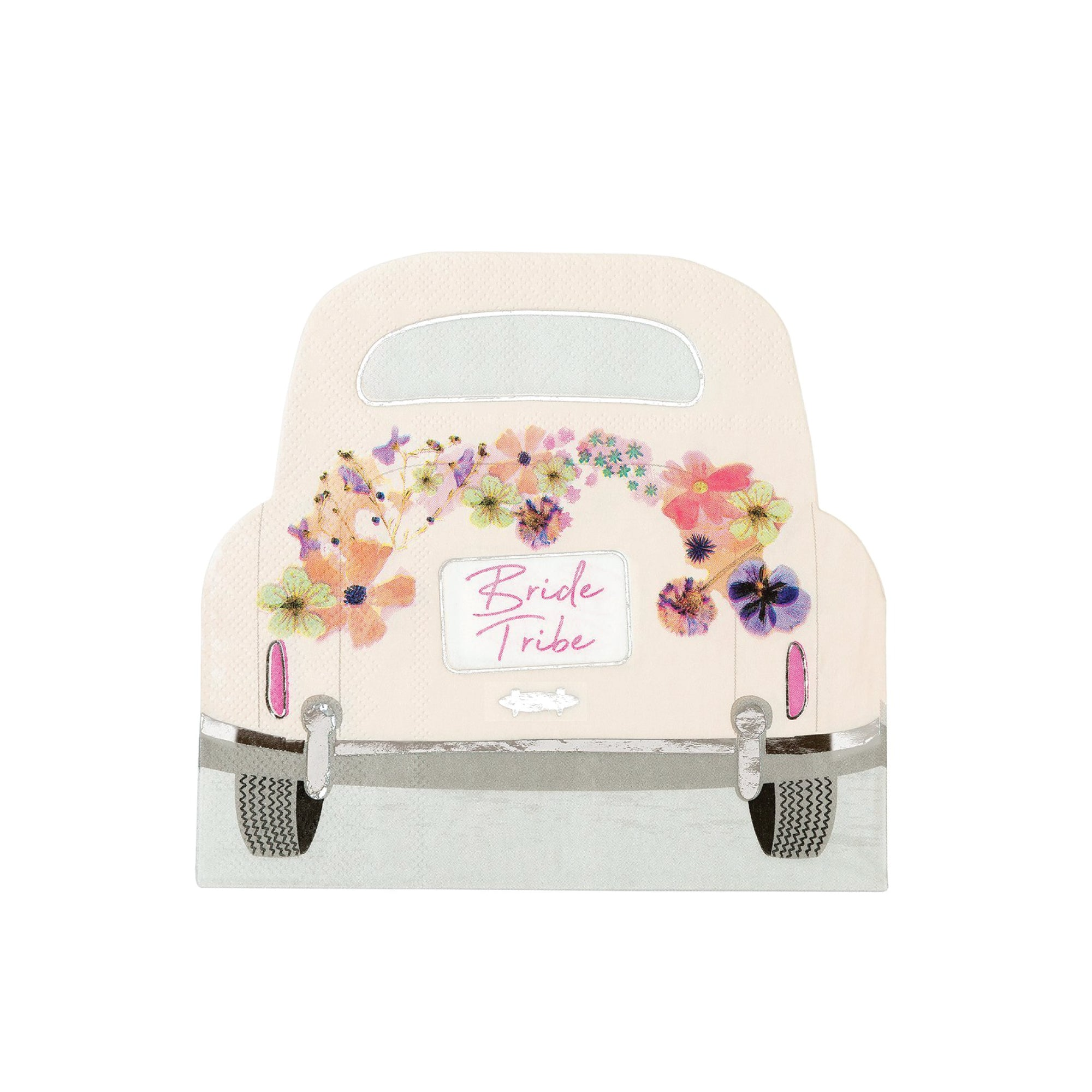 Blossom 'Bride Tribe' Car Shaped Napkins | The Party Darling