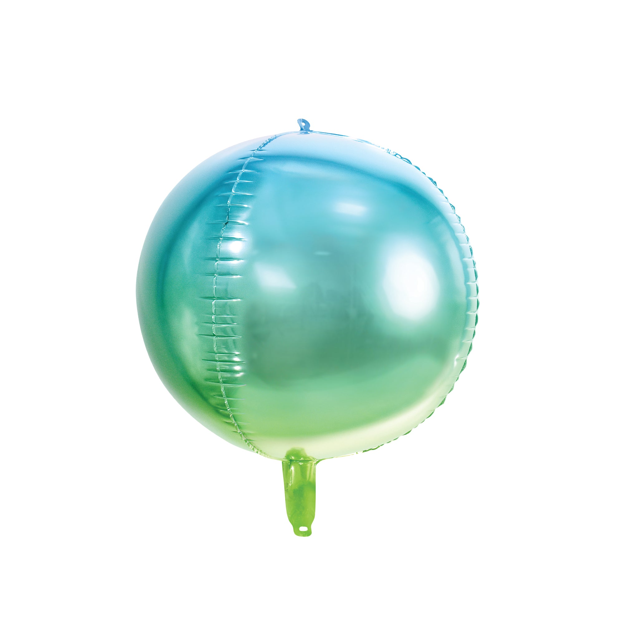 Blue & Green Ombre Ball Balloon 14""
