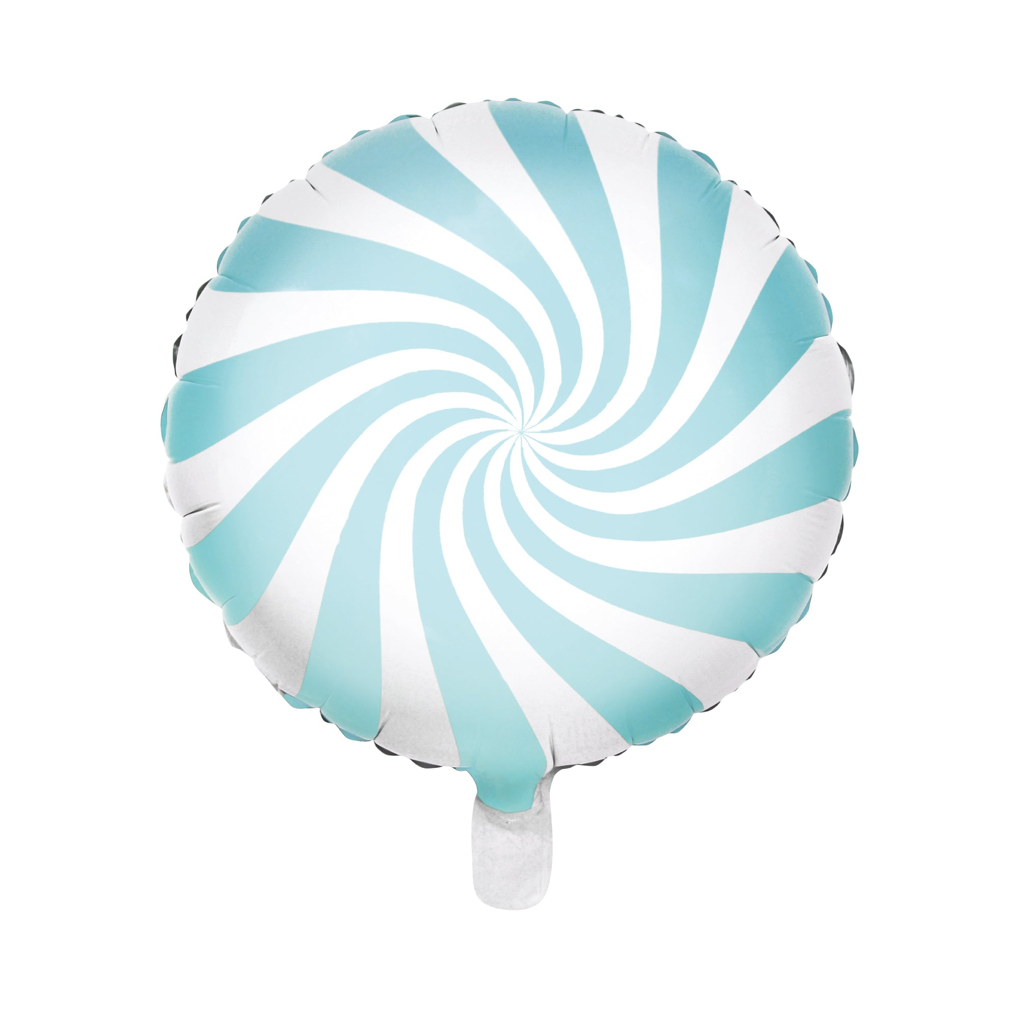 Light Blue Swirly Lollipop Foil Balloon 18"