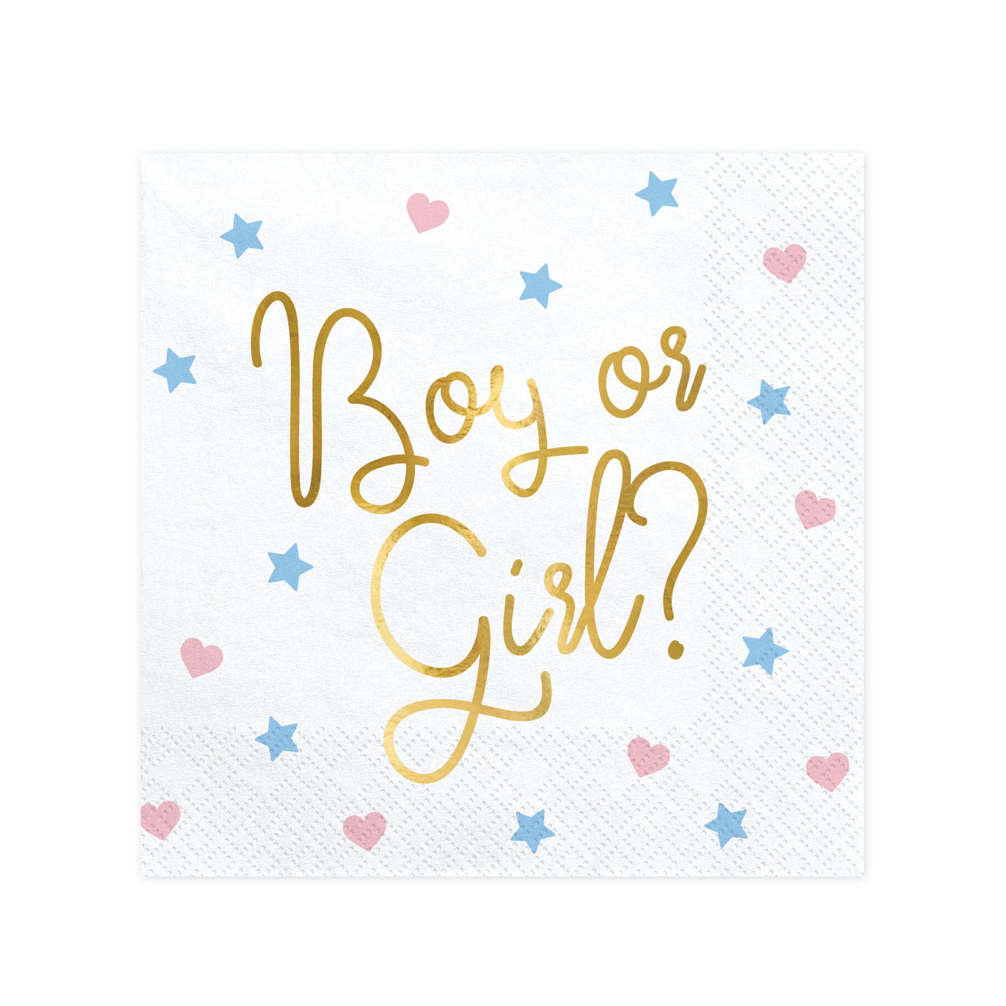 Boy or Girl Gender Reveal Napkins