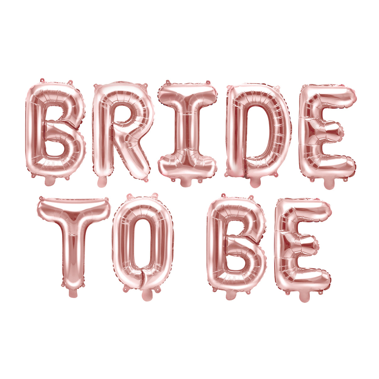 Rose Gold Bride to Be Letter Balloon Kit | The Party Darling
