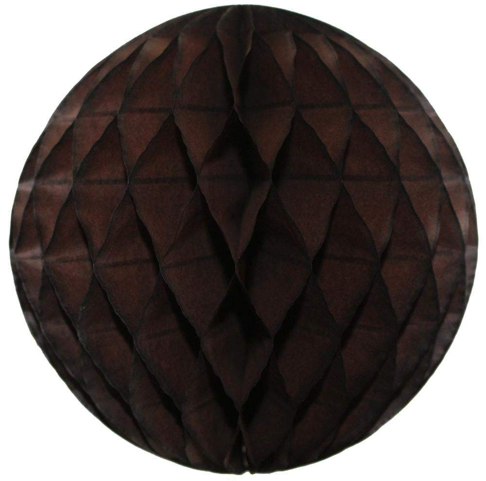 Dark Brown Honeycomb Tissue Ball